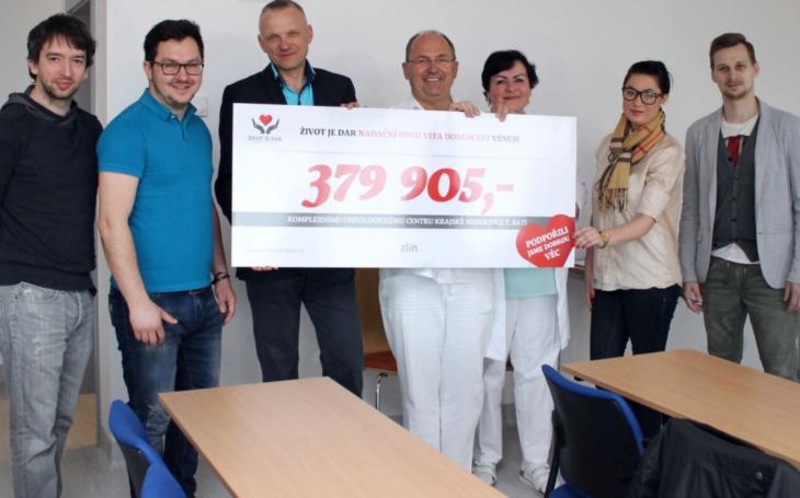 KNTB: Nadace Život je dar opět pomohla zlínské onkologii
