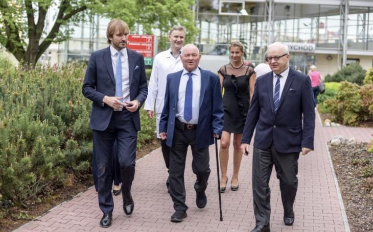 Ministr zdravotnictví Adam Vojtěch si prohlédl nové Oddělení urgentního příjmu Nemocnice České Budějovice