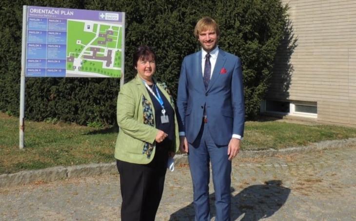 Nemocnici Dačice navštívil ministr zdravotnictví Adam Vojtěch