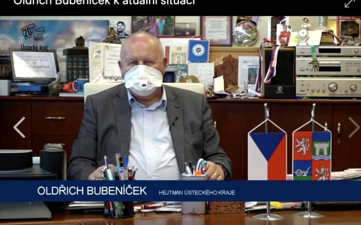 VIDEO: Hejtman Ústeckého kraje Oldřich Bubeníček se vyjadřuje k aktuální situaci
