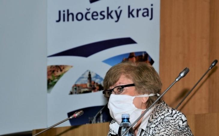 Krizový štáb Jihočeského kraje: Kritická slova hejtmanky Ivany Stráské