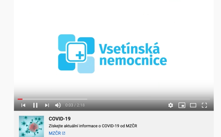 VIDEO     Vsetínská nemocnice: Bojujeme s koronavirem!