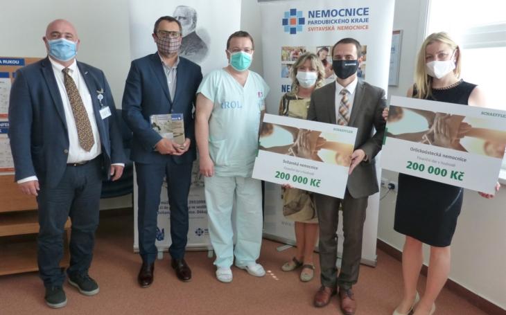 Pardubický kraj: Orlickoústecká a Svitavská nemocnice obdržely štědrý finanční dar od firmy Schaeffler