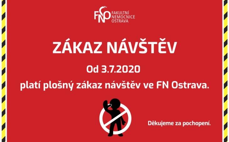 FN Ostrava: Od zítřka plošný zákaz návštěv