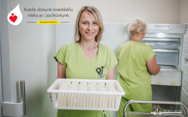 Nemocnice České Budějovice: Startuje kampaň na podporu Banky mateřského mléka aneb Banka mateřského mléka - místo, kde maminky pomáhají maminkám
