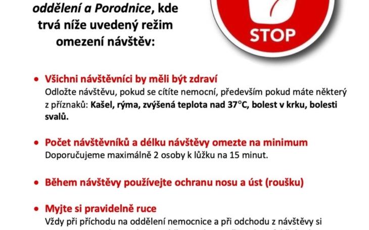 Nemocnice České Budějovice a Nemocnice Prachatice vyhlašují plošný zákaz návštěv