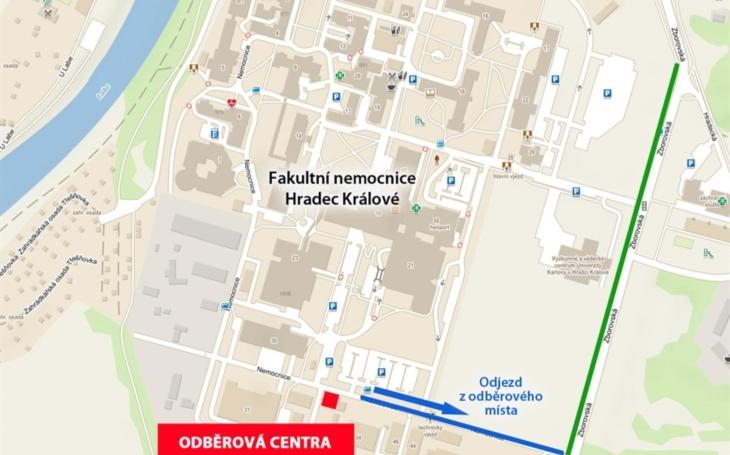 FN Hradec Králové: Odběrové centrum COVID-19 od 22. října zřídilo třetí odběrové místo
