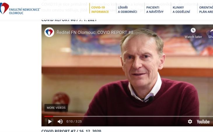 FN Olomouc - VIDEO: Ředitel Roman Havlík k současné COVID situaci
