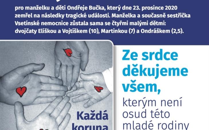 Vsetínská nemocnice: Zdravotní sestřička zůstala po tragédii sama se čtyřmi dětmi, kolegové jí chtějí pomoci sbírkou
