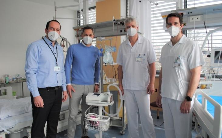 ON Kladno: ESA logistika darovala nemocnici peníze na nákup nových přístrojů