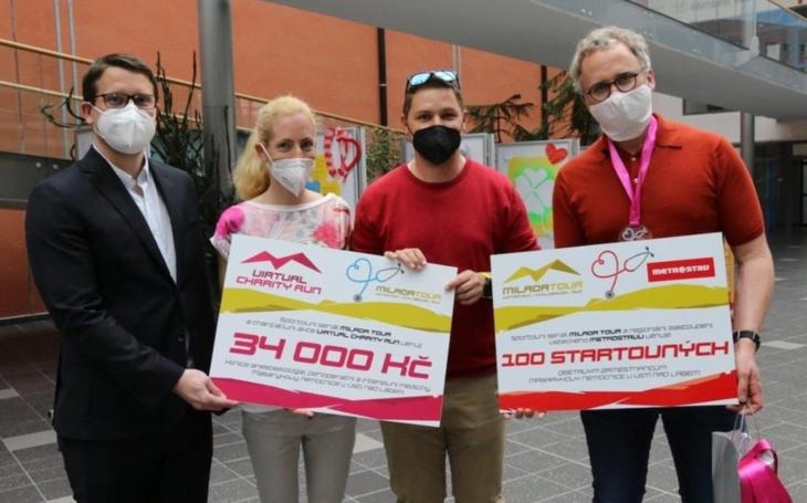 Ústecký kraj: Virtual Charity Run a Metrostav ocenily zdravotníky