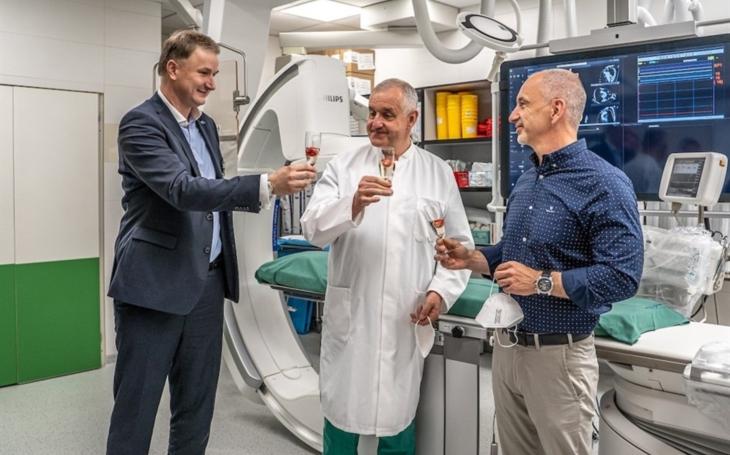 Nemocnice České Budějovice obměnila kardioangiografický přístroj určený k zobrazení srdečních a cévních struktur