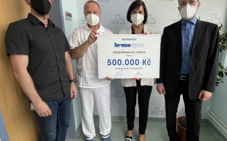 Nemocnice Jihlava: Pacienti budou mít díky sponzorovi lepší připojení k internetu