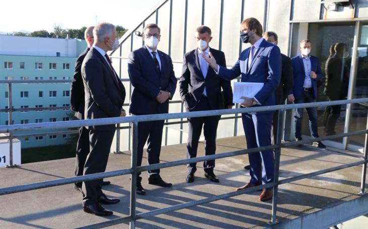 Ústecký kraj: Premiér Babiš a ministr Vojtěch navštívili nemocnice Krajské zdravotní v Ústí nad Labem a Chomutově