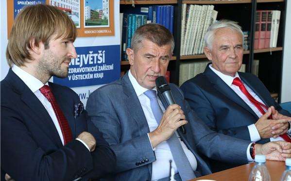 Premiér Andrej Babiš podpořil vznik kardiochirurgie v ústecké Masarykově nemocnici