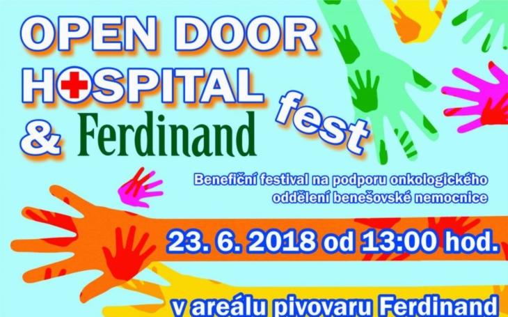 "BENEŠOV: OPEN DOOR HOSPITAL AND FERDINAND FEST 2018 -  ""FESTIVAL, KTERÝ POMÁHÁ"""